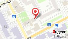Отель Сибирия на карте