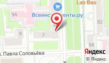 Гостиница Дюймовочка на карте