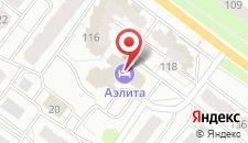 Отель Аэлита на карте