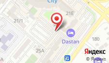 Отель Дастан на карте