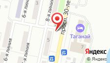 Отель Таганай на карте
