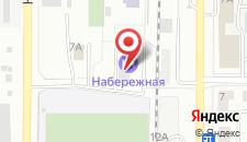 Отель Набережная на карте