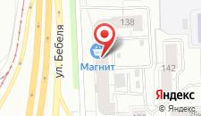 Отель Лайт на улице Бебеля на карте