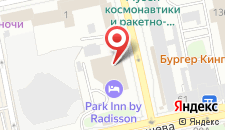 Отель Парк Инн Екатеринбург на карте