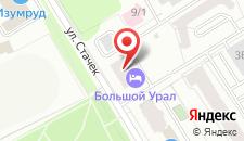 Гостиница Большой Урал на Стачек на карте
