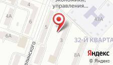 Отель Октябрьский на Белинского на карте