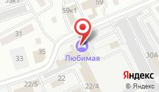 Гостиница Любимая на карте