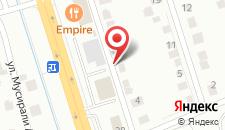 Отель KREZ на карте