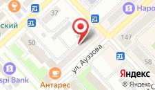 Апартаменты На Улице Ауэзова на карте