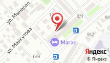 Отель Магаc на карте