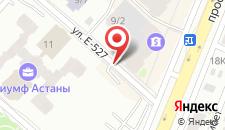 Апартаменты Триумф Астана на карте