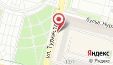 Апартаменты Nursaya на карте