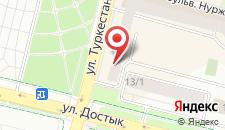 Апартаменты Нурсия Банита на карте