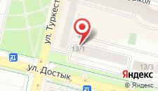 Апартаменты На Достык 13 на карте