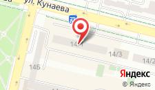 Апартаменты Нурсая на Кунаева 14/1 на карте