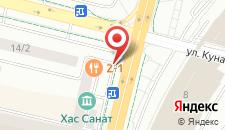 Апартаменты На Кунаева 14 на карте