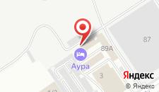 Отель Аура на карте