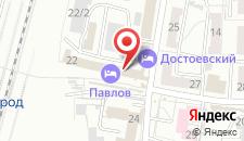 Мини-гостиница Железнодорожная на карте