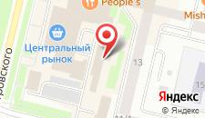 Гостиница Кедр на карте