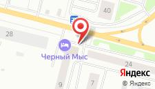 Гостиница Черный Мыс на карте