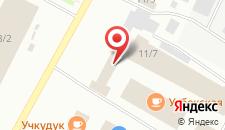 Гостиница Таежная на карте