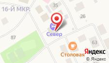 Гостиница Север на карте