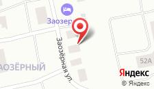 Гостевой дом Заозерный на карте