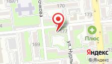 Апартаменты на Алматы на карте