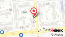 Апартаменты Толе Би 169 на карте