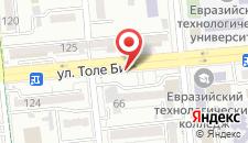 Апартаменты Толе на карте