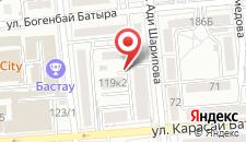 Апартаменты App24 на Шарипова 68 на карте