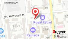 Отель Рамада Алматы на карте
