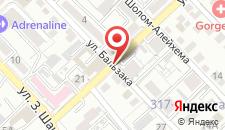 Апартаменты AHome 10 на Бальзака на карте