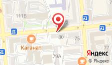 Апартаменты на Желтоксан 77/79 на карте