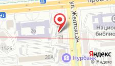 Апартаменты Абая 24 на карте