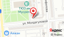 Апартаменты Маяк на Молдагуловой на карте
