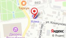 Отель Алма на карте