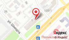 Апартаменты на Шакарима на карте