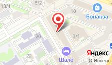 Гостиница Шале на Комсомольской на карте