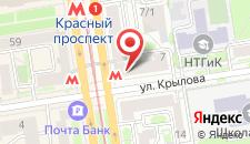 Хостел на Красном на карте