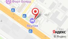 Гостиница Якутия на карте