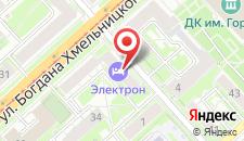 Гостиница Электрон на карте