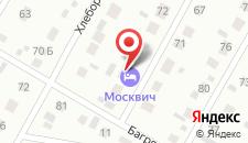 Гостиница Москвич на карте