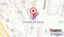 Отель 24 часа на карте