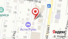 Гостиница Асти Румс на карте