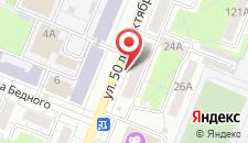 Апартаменты 50 лет Октября, 26 на карте