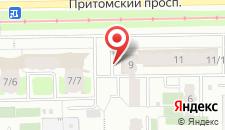 Апартаменты Притомский проспект на карте