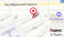 Апартаменты На Октябрьском проспекте 23 на карте