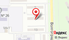 Апартаменты Кемкомфорт на Волгоградской на карте
