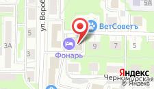 Гостиница Фонарь на карте